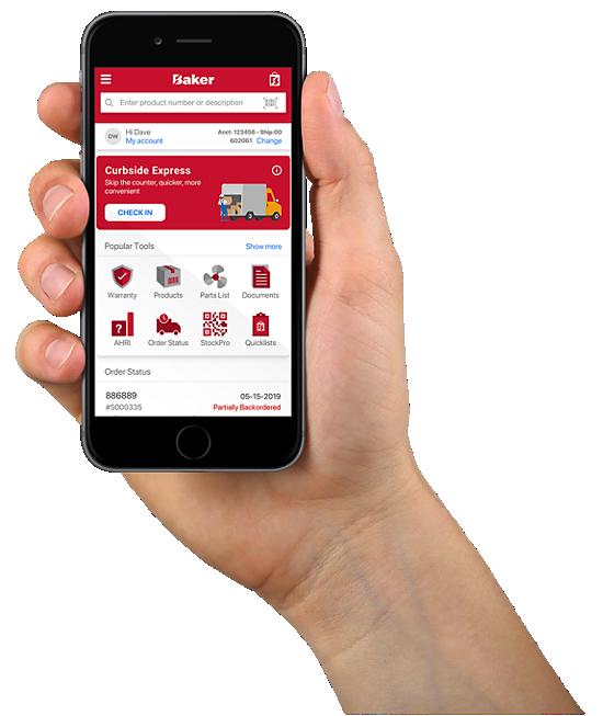 baker distributing contractor assist mobile app. work smarter.