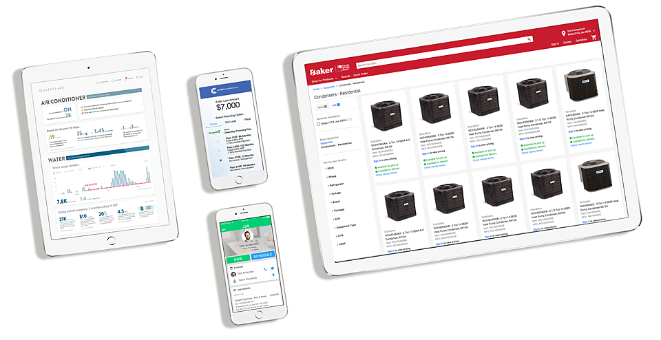 baker distributing hvac contractor technology tools