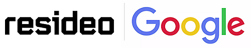 resideo and google logos