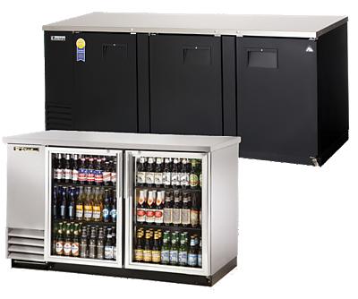 back bar and underbar refrigeration equipment
