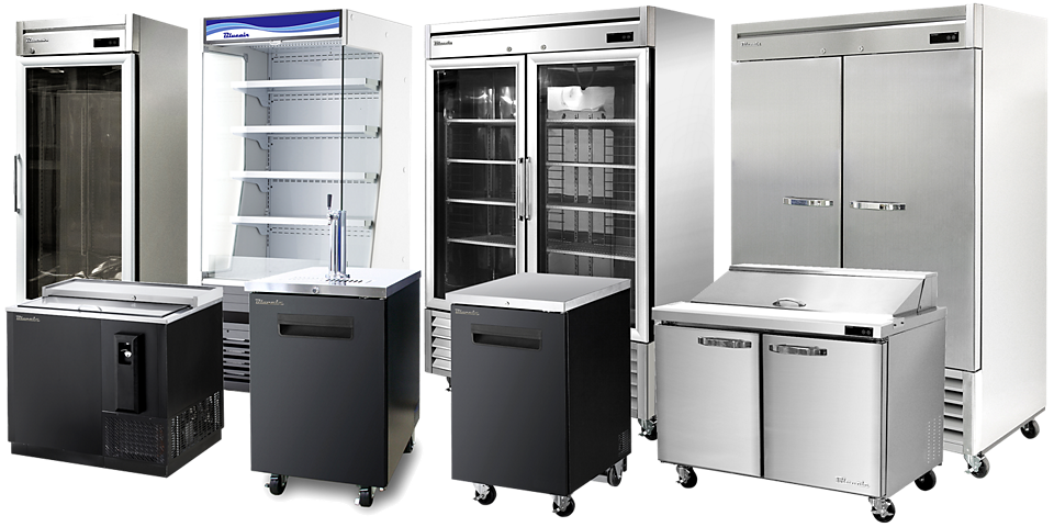 blueair reach-ins, merchandisers, undercounters, chef bases, bar equipment, food prep tables available at baker distributing company.