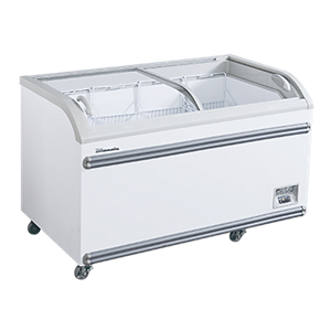 blue air chest freezers