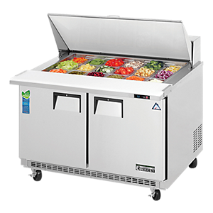 everest refrigerated prep tables
