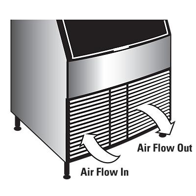 manitowoc ice neo undercounter ice machine air flow