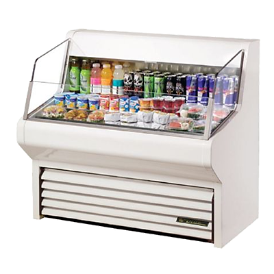 horizontal air curtains refrigerated display merchandiser