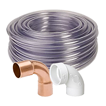 hvac/r plumbing supplies, hvacr pvc pipe and fittings, hvacr copper lines and fittings