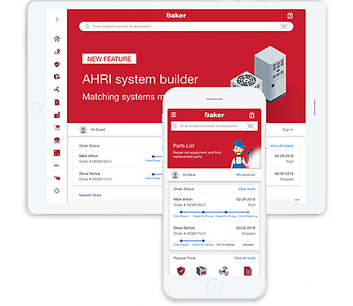 Baker Distributing HVAC/R Contractor Assist Mobile App