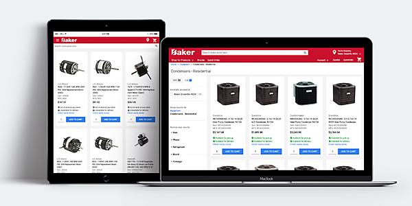 bakerdist.com ecommerce for hvac contractors