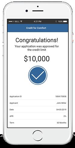 credit for comfort financing