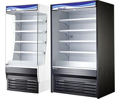 blue air glass door merchandiser refrigerators and freezers. blue air countertop merchandisers. blue air open display merchandisers