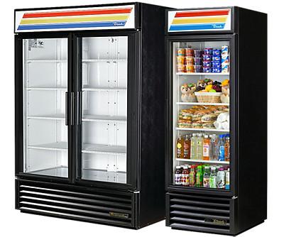 true GDM series glass door merchandiser refrigerators and freezers