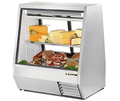 true TBDB TSID TCGG series refrigerated deli display cases