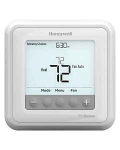 Honeywell - TH6220U2000/U - Programmable Thermostat up to 2 Heat/1 Cool Heat Pumps or 2 Heat/2 Cool Conventional Systems