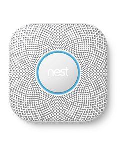 Nest - S3004PWBUS - Nest Protect 2nd Generation Smoke and Carbon Monoxide Alarm, Battery, White