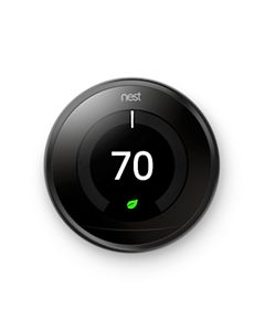Nest - T3016US - 3rd Gen-Pro Learning Thermostat, Wi-Fi Programmable, Black