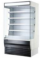 vertical air curtains refrigerated display merchandiser