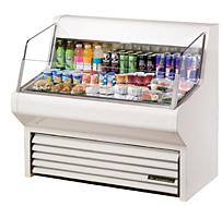 horizontal air curtains refrigerated display merchandiser